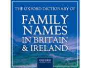 Oxford Dictionary of Family Names in Britain and Ireland website